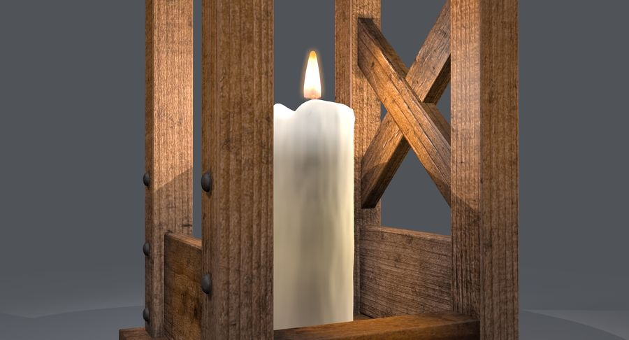 Candle lantern royalty-free 3d model - Preview no. 19