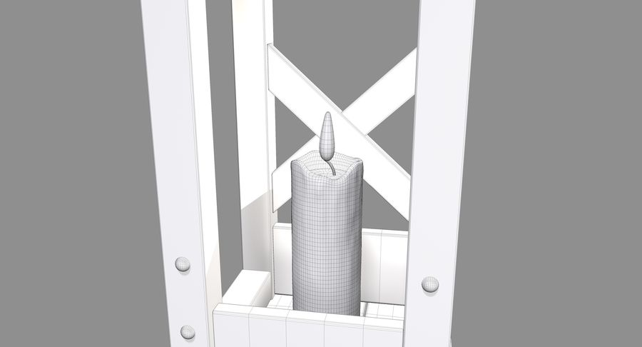 Candle lantern royalty-free 3d model - Preview no. 12