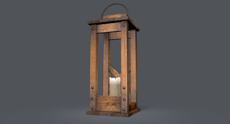 Candle lantern royalty-free 3d model - Preview no. 17