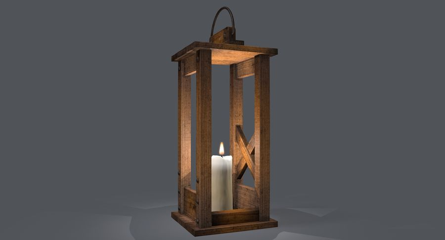 Candle lantern royalty-free 3d model - Preview no. 16