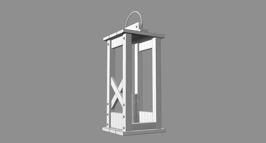 Candle lantern royalty-free 3d model - Preview no. 7