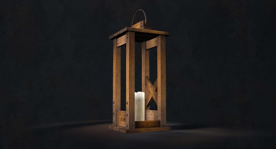 Candle lantern royalty-free 3d model - Preview no. 23
