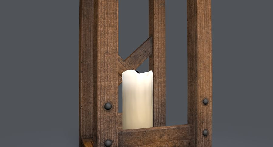 Candle lantern royalty-free 3d model - Preview no. 18