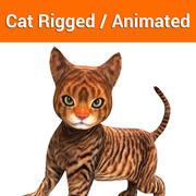 ładny kot animowany 3d model