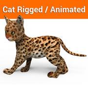 귀여운 고양이 조작 애니메이션 모델 3d model