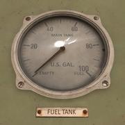 Jauge de carburant animée 3d model