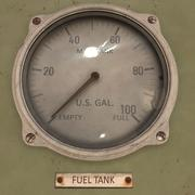 Wskaźnik paliwa animowany 3d model