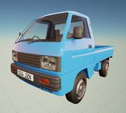Low poly Mini van 3d model