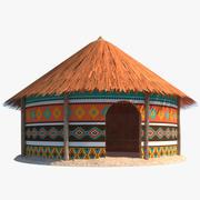 非洲小屋 3d model