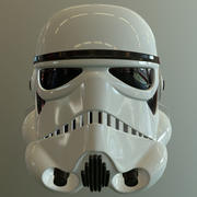 Storm trooper hjälm 3d model