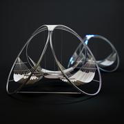 пейзажный гамак 3d model
