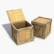 Caja de madera modelo 3d
