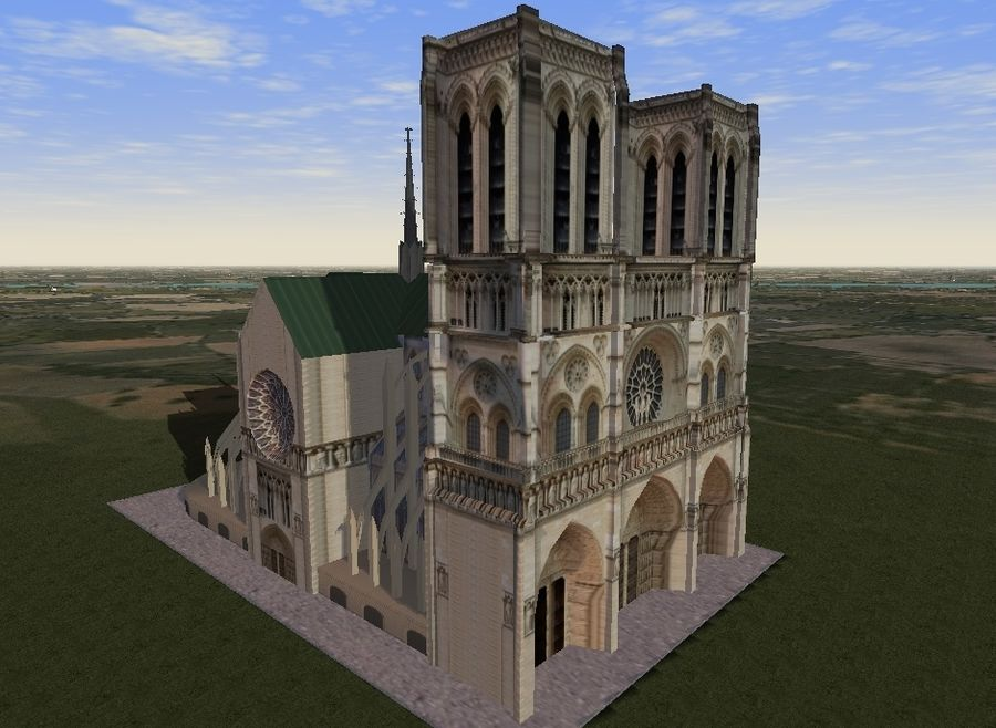 Notre Dame royalty-free 3d model - Preview no. 5