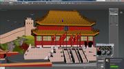 zakazane miasto Chiny 3d model