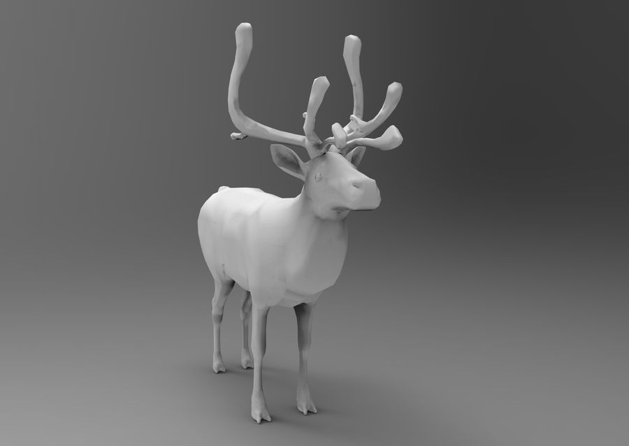 Modell mit Rentier-Takelage royalty-free 3d model - Preview no. 14