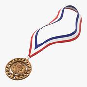 Colocação de medalhas em estilo olímpico 3d model
