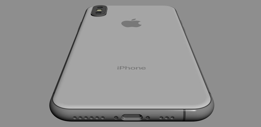 iPhone XおよびiPhone XS royalty-free 3d model - Preview no. 49