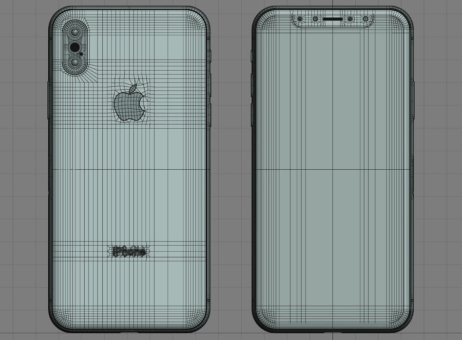 iPhone XおよびiPhone XS royalty-free 3d model - Preview no. 23