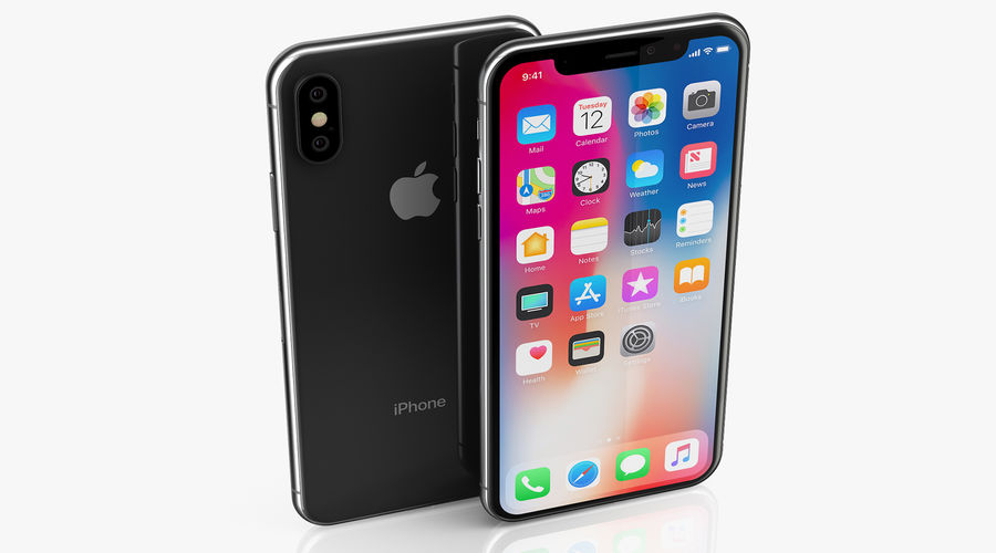 iPhone XおよびiPhone XS royalty-free 3d model - Preview no. 7