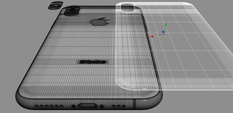 iPhone XおよびiPhone XS royalty-free 3d model - Preview no. 51