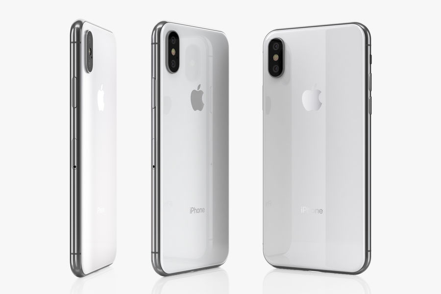 iPhone XおよびiPhone XS royalty-free 3d model - Preview no. 10