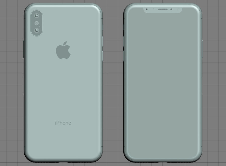 iPhone XおよびiPhone XS royalty-free 3d model - Preview no. 22