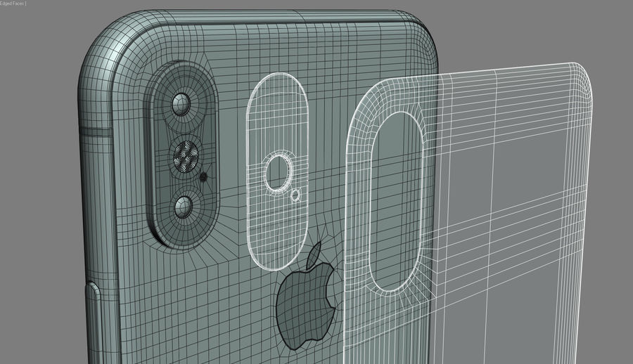 iPhone XおよびiPhone XS royalty-free 3d model - Preview no. 27