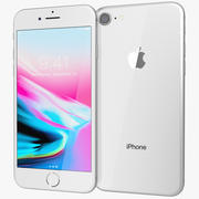 Apple iPhone 8シルバー 3d model