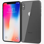 Apple iPhone X Space Grey 3d model