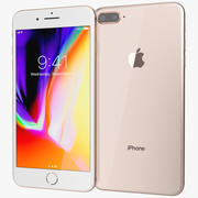 Apple iPhone 8 Plus Gold 3d model