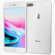 Apple iPhone 8 Plusシルバー 3d model