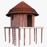 非洲丛林小屋 3d model