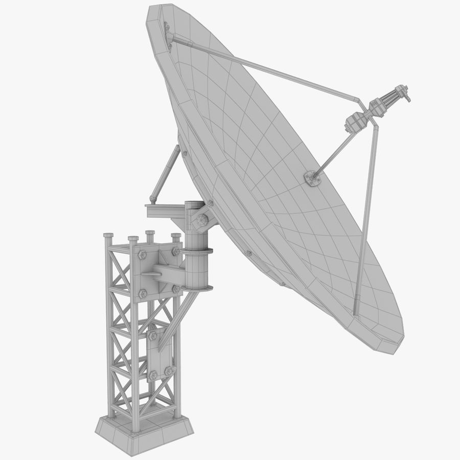 Satellietschotel Set royalty-free 3d model - Preview no. 24