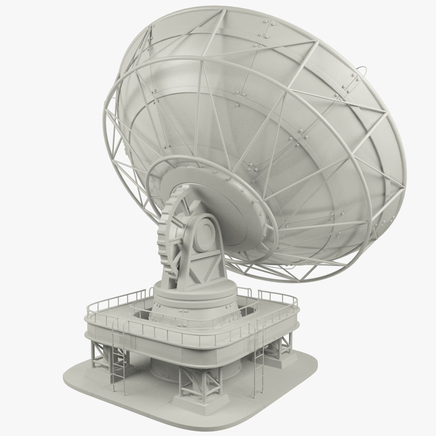 Satellietschotel Set royalty-free 3d model - Preview no. 4