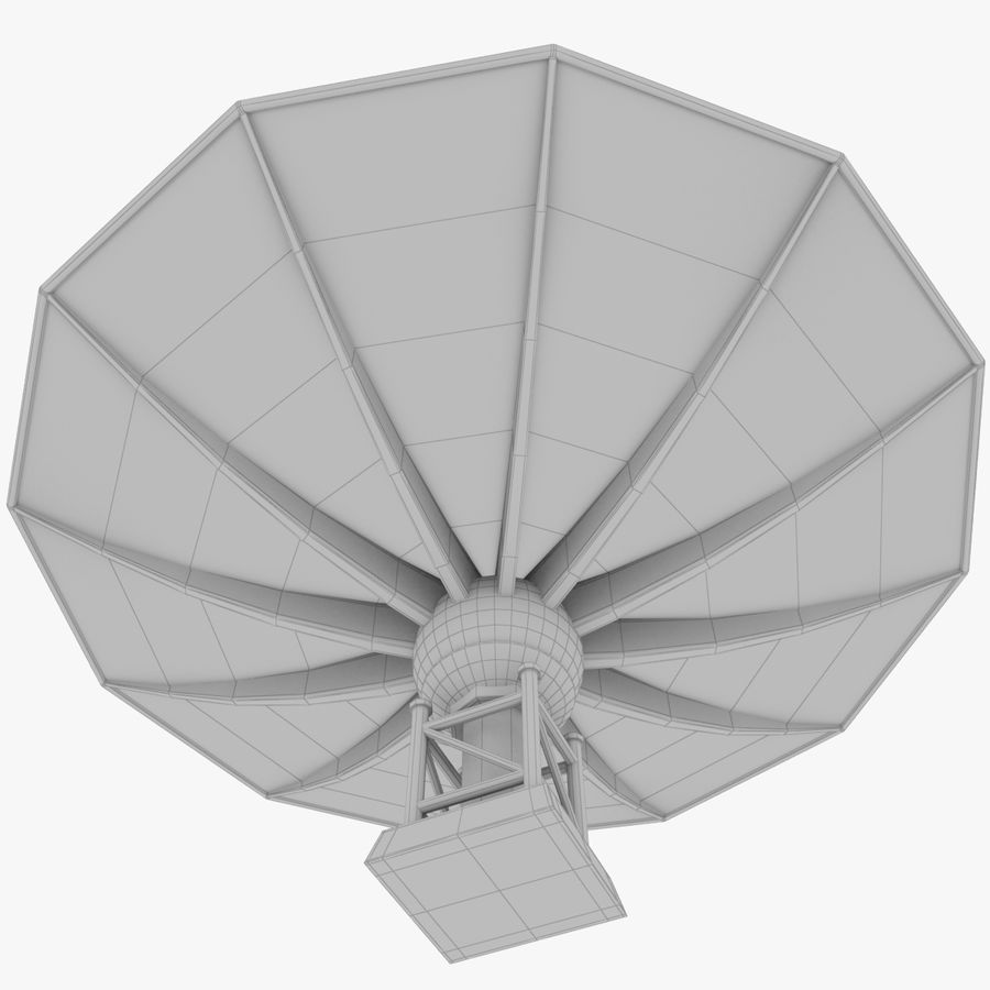 Satellietschotel Set royalty-free 3d model - Preview no. 33