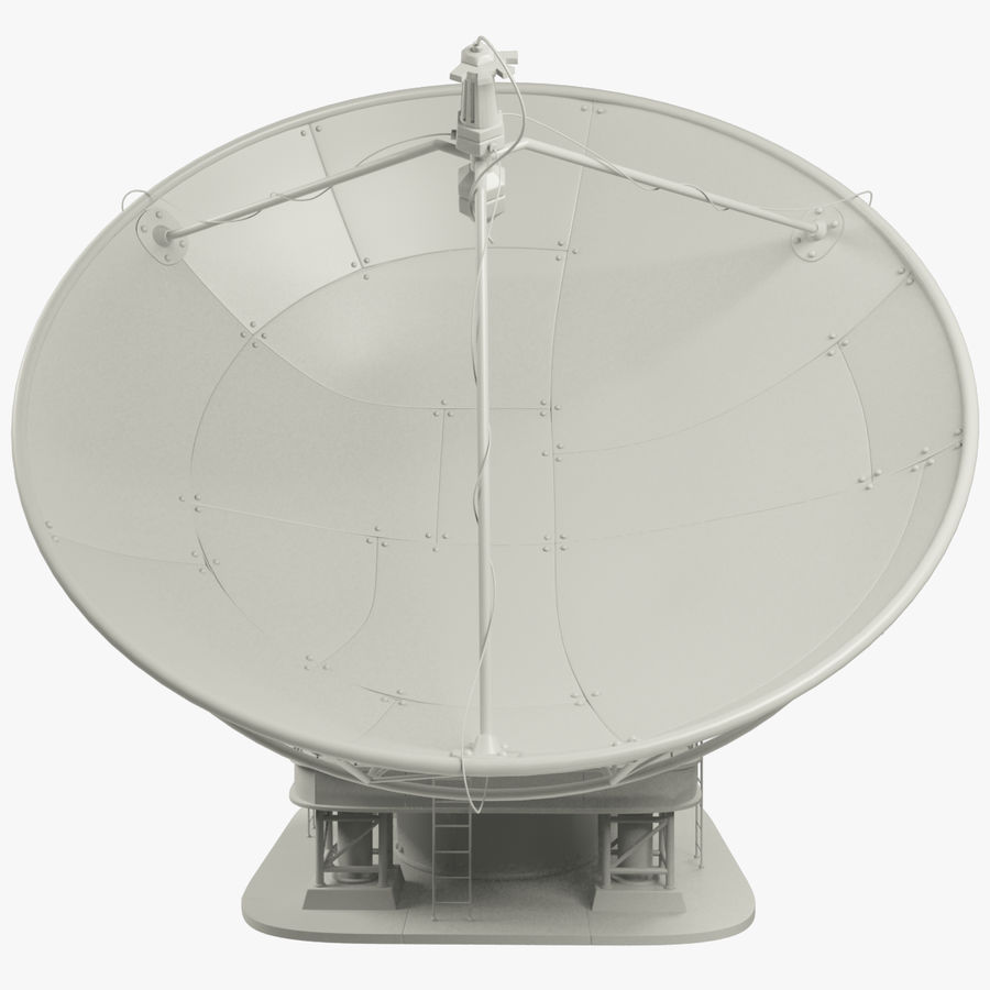 Satellietschotel Set royalty-free 3d model - Preview no. 9