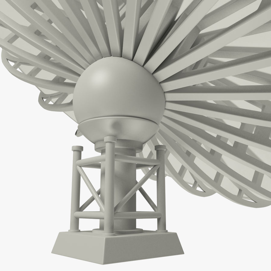 Satellietschotel Set royalty-free 3d model - Preview no. 40