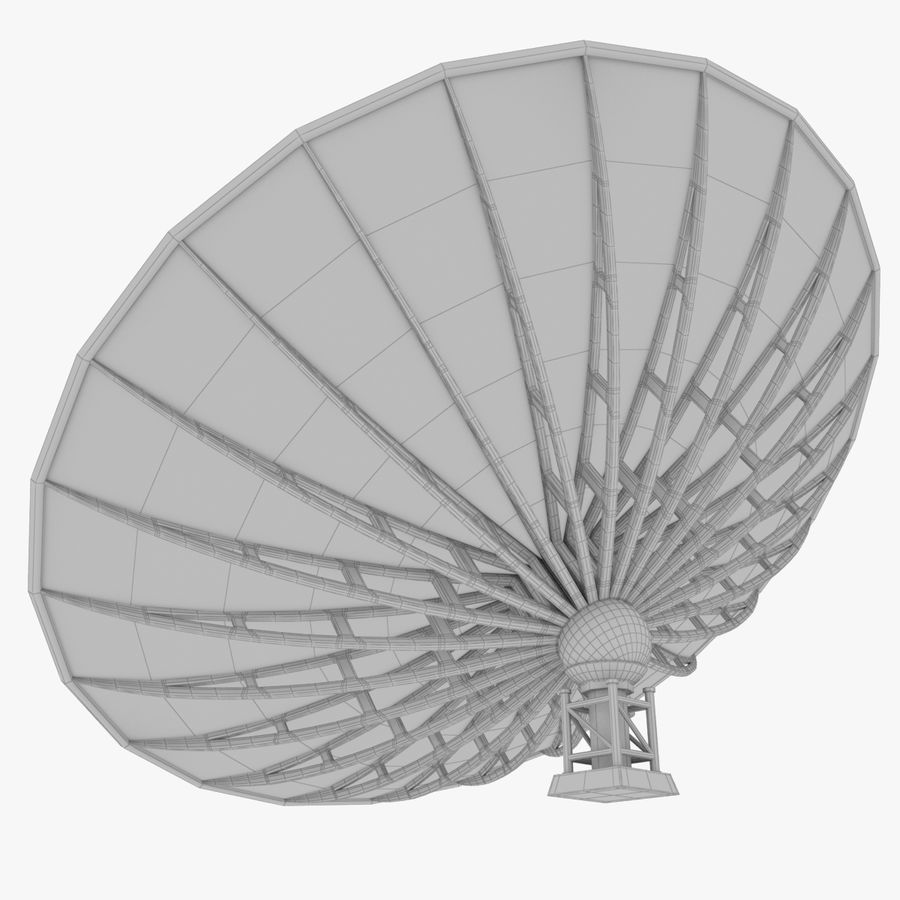 Satellietschotel Set royalty-free 3d model - Preview no. 43