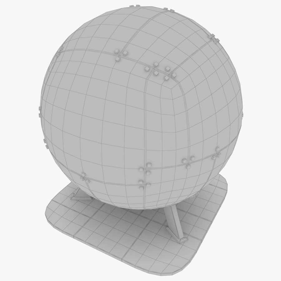 Satellietschotel Set royalty-free 3d model - Preview no. 51
