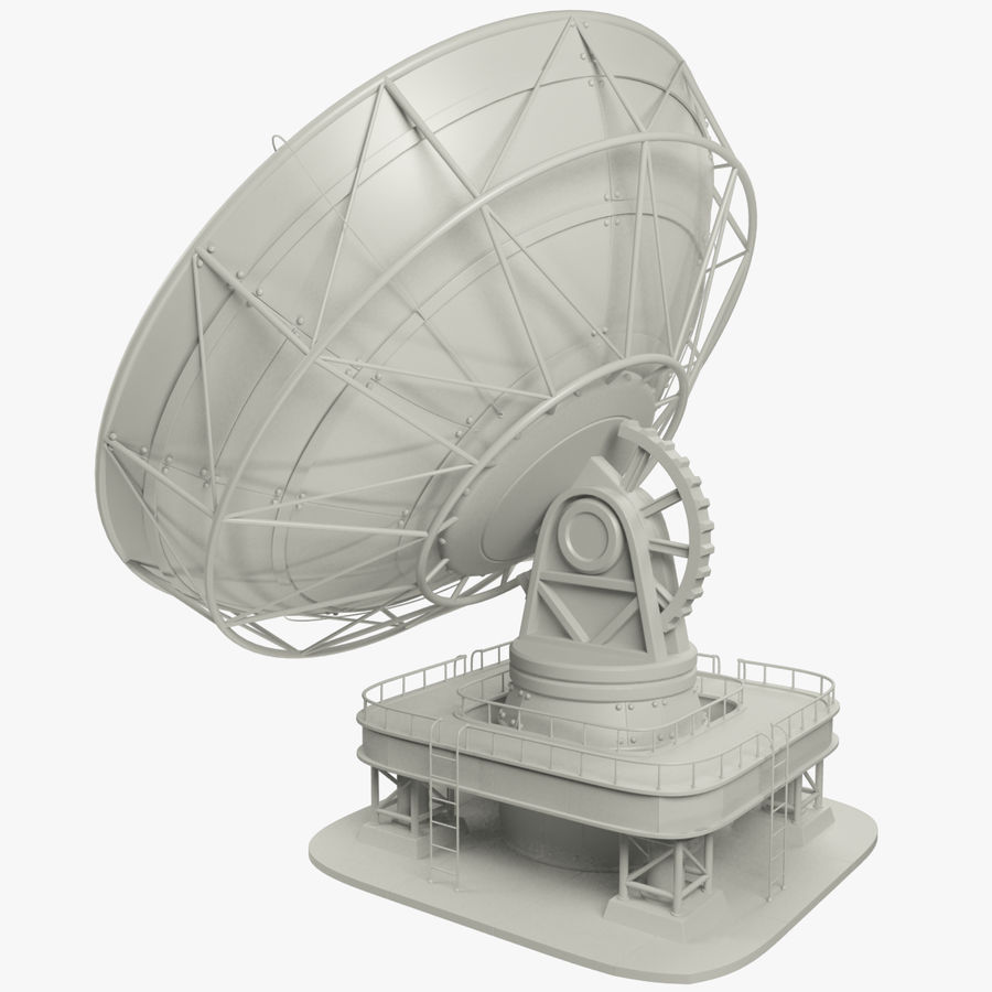 Satellietschotel Set royalty-free 3d model - Preview no. 6