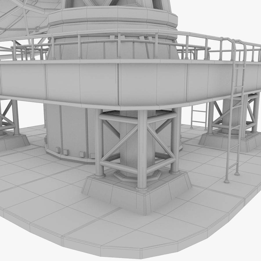 Satellietschotel Set royalty-free 3d model - Preview no. 16