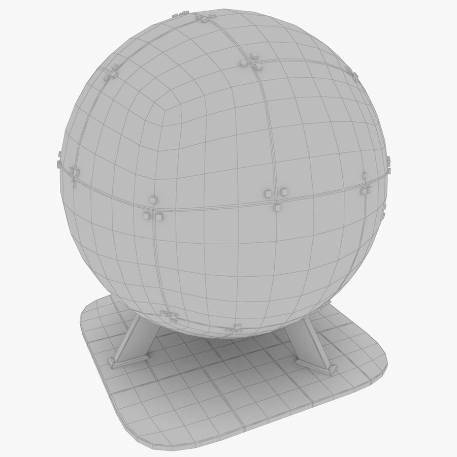 Satellietschotel Set royalty-free 3d model - Preview no. 50