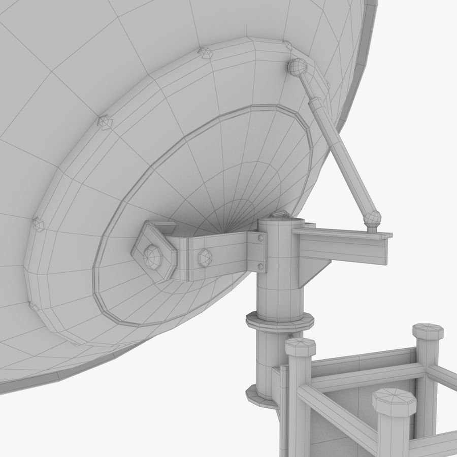 Satellietschotel Set royalty-free 3d model - Preview no. 26