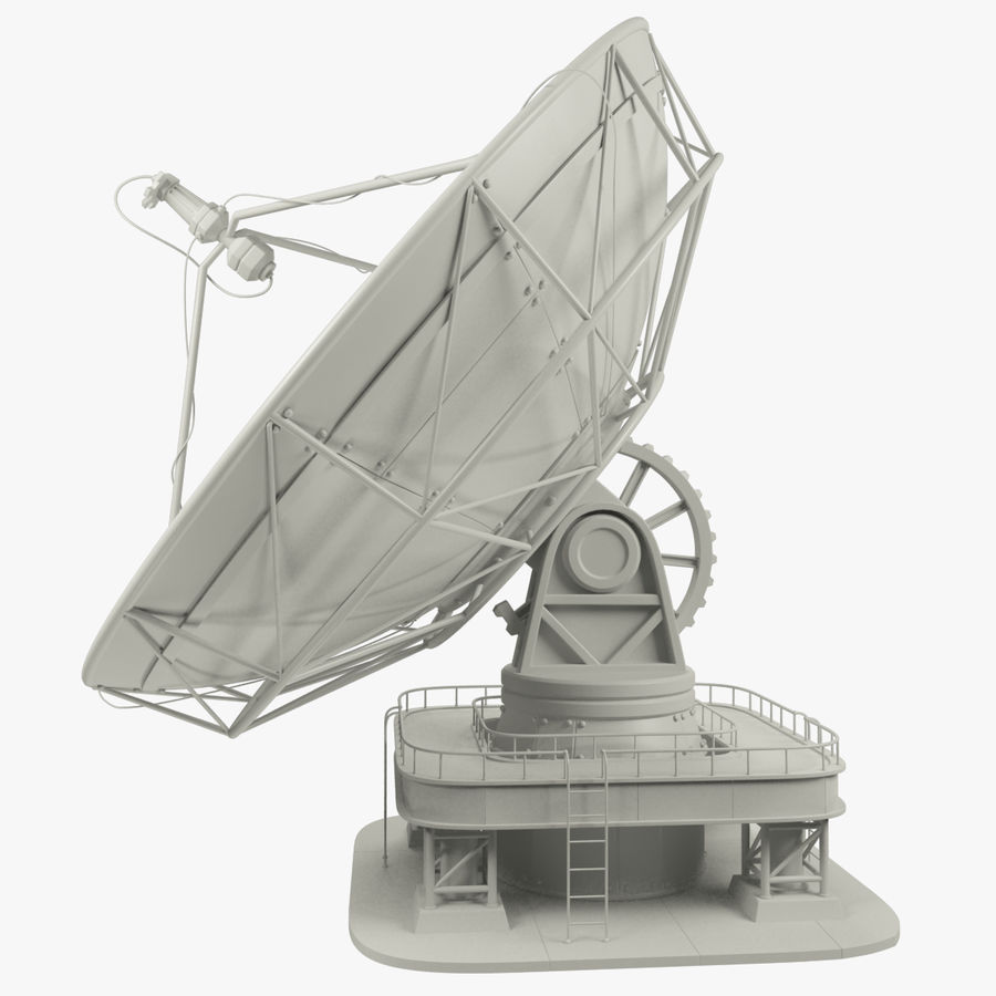 Satellietschotel Set royalty-free 3d model - Preview no. 7