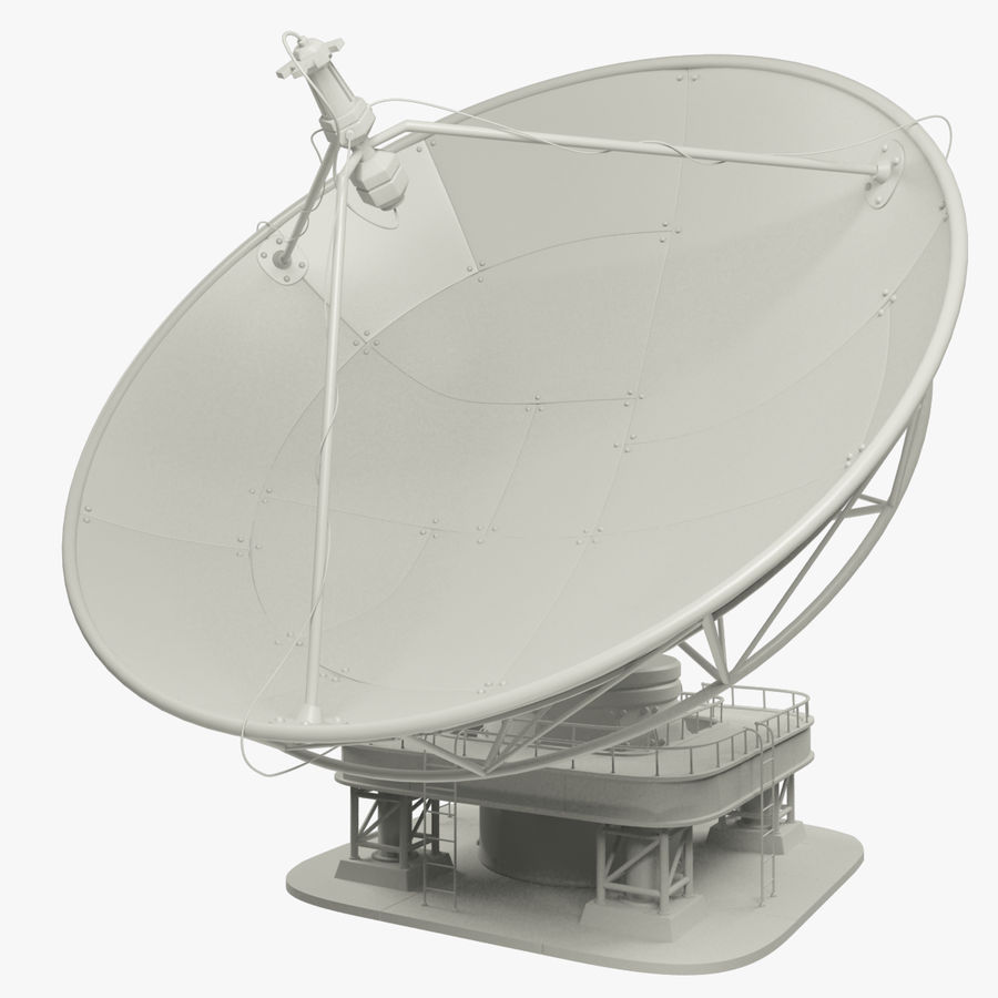 Satellietschotel Set royalty-free 3d model - Preview no. 8