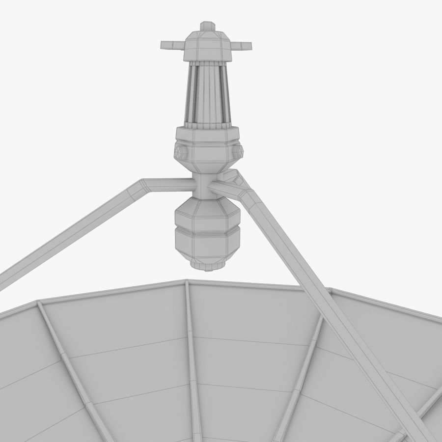 Satellietschotel Set royalty-free 3d model - Preview no. 35