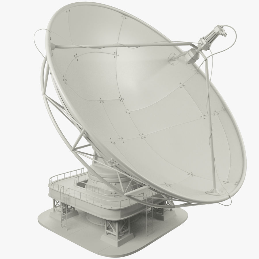 Satellietschotel Set royalty-free 3d model - Preview no. 2
