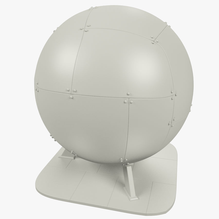 Satellietschotel Set royalty-free 3d model - Preview no. 47