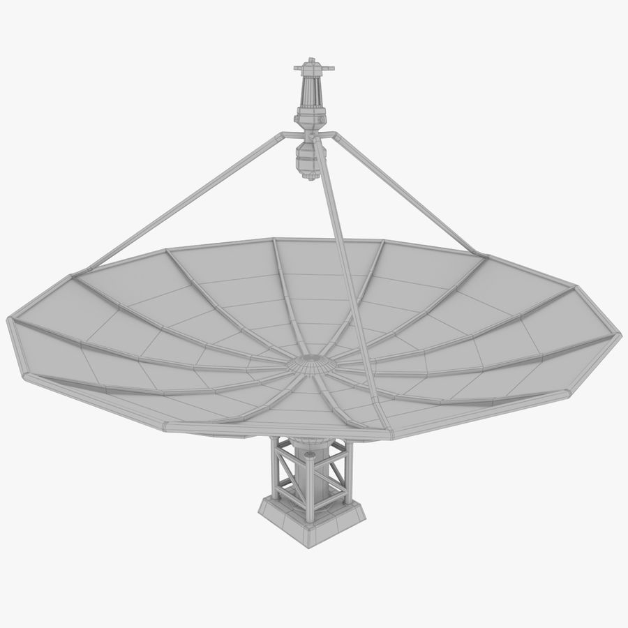 Satellietschotel Set royalty-free 3d model - Preview no. 32
