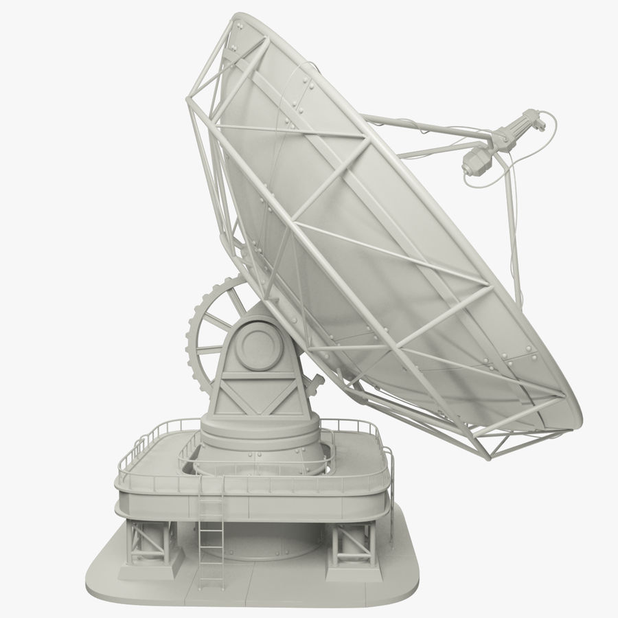 Satellietschotel Set royalty-free 3d model - Preview no. 3